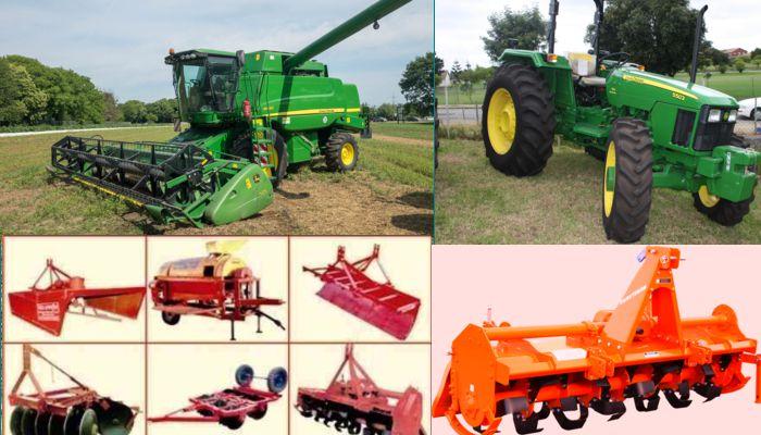 हार्वेस्टर, ट्रैक्टर एवं अन्य कृषि यन्त्र अनुदान