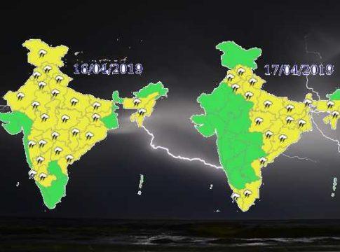 16-17 April weather Forecast