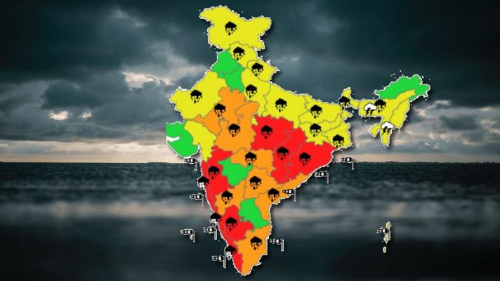 Heavy Rain Warning in India for next few day Monsoon Update