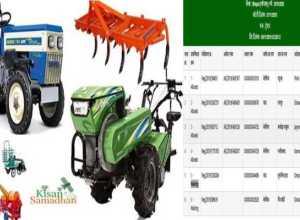 tractor avam any krishi yantra anudan hetu kisan list