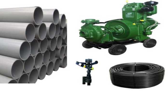 pumpset pipeline sprinkler set subsidy application