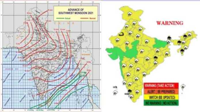 monsoon arrival in 2021 weather forecast till 3 June