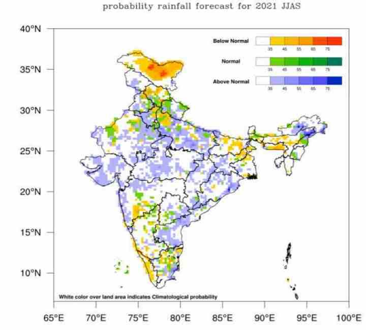 monsoon forecast June to September 2021