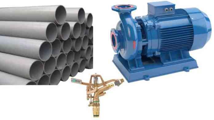 sprinkler set pipe line motor anudan avedan