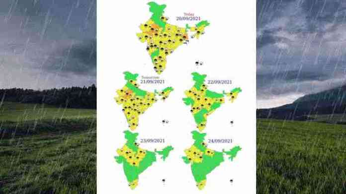 weather forecast 20 to 24 September